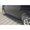 Боковые пороги (Allmond Black) для Nissan Skystar D22/NP300 2008+ (Erkul, NSSR02RB4B203AMB)