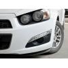 Дневные ходовые огни DRL для Chevrolet Aveo (T300) 2012+ (JUNYAN, TXDRL-Aveo-300)