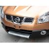 Накладка на передний бампер для Nissan Qashqai 2008-2010 (Kindle, NQ-B23)