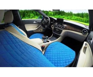 Накидки на сиденья автомобиля с ушками (передние, к-кт. 2 шт.) (AVTOРИТЕТ, blue_s)