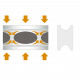 Автобаферы - амортизирующие подушки (4 шт.) для Saab Sedan 9000 1985-1998 (TTC, BE)