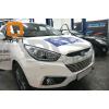 Решетка переднего бампера для Hyundai IX-35 2009-2015 (Can-Otomotiv, HYIX.27.1245)