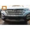 Решетка переднего бампера для Hyundai Santa Fe 2012-2015 (Can-Otomotiv, HYSA.27.1204)