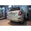 Защита заднего бампера (одинарная, D60) для Lifan X60 2013+ (Can-Otomotiv, LIX6.55.8885)