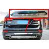 Накладка на задний бампер Hyundai Santa Fe 2013+ (PRC, DS-B-212)