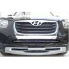 Накладка на передний бампер Hyundai Santa Fe 2010+ (PRC, DS-B-101)