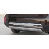 Накладка на задний бампер для Kia Sorento 2013+ (PRC, DS-G-132)