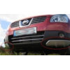 Накладка на углы переднего бампера Nissan Qashqai 2007-2013 (PRC, QS039708B)