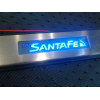 Накладки на внутренние пороги с подсветкой (4 шт.) для Hyundai Santa FE ( IX45 ) 2013+ (PRC, IX45130601)