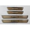 Накладки на внутренние пороги (4 шт.) для Hyundai Santa FE 2006-2012 (PRC, QS009631A)