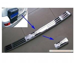 Накладка на задний бампер (хром) для Toyota Land Cruiser Prado 120 (PRC, PRD030701)