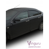 Дефлекторы окон (к-кт., 4 шт.) для Nissan Almera 2012+ (Vinguru, AFV55912)