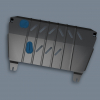 Защита картера двигателя для MAZDA 2 2010+ (1,3/1,5 бензин МКПП/АКПП) (Novline, NLZ.33.20.021)