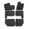 Коврики 3D в салон (6 шт.) для Ford Tourneo Custom (9 мест) 2013+ (Novline, CARFRD00029k)