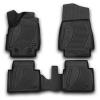 Коврики 3D в салон (4 шт.) для Lada Нива (4х4) 3D 2009+ (Novline, F320250E1)