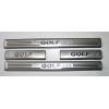 Накладки на пороги для Volkswagen Golf 7 2012+ (ASP,  BVWG71412)