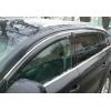 Дефлекторы окон (с молдингом) для Mercedes-Benz S-Class (W222) Long 2013+ (HIC, MB45-M)
