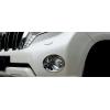Накладки на передние противотуманные фары для Toyota Land Cruiser Prado 150 2014+ (ASP, JMTTP150FFLC)