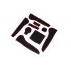 СИЛИКОНОВЫЕ ВСТАВКИ В САЛОН ДЛЯ AUDI A4 (B8) 2012-2015 (BGT-PRO, PADS-AU-A4-B8-2012-R)