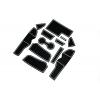 СИЛИКОНОВЫЕ ВСТАВКИ В САЛОН ДЛЯ AUDI A4 (B9) 2017+ (BGT-PRO, PADS-AU-A4-B9-2017-W)