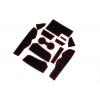 СИЛИКОНОВЫЕ ВСТАВКИ В САЛОН ДЛЯ AUDI A4 (B9) 2017+ (BGT-PRO, PADS-AU-A4-B9-2017-R)