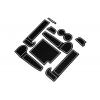 СИЛИКОНОВЫЕ ВСТАВКИ В САЛОН ДЛЯ AUDI A6 (C7) 2011-2015 (BGT-PRO, PADS-AU-A6-C7-2011-W)