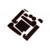 СИЛИКОНОВЫЕ ВСТАВКИ В САЛОН ДЛЯ AUDI A6 (C7) 2011-2015 (BGT-PRO, PADS-AU-A6-C7-2011-R)