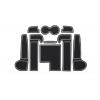 СИЛИКОНОВЫЕ ВСТАВКИ В САЛОН ДЛЯ AUDI A6 (C7) 2015-2017 (BGT-PRO, PADS-AU-A6-C7-2015-W)