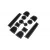 СИЛИКОНОВЫЕ ВСТАВКИ В САЛОН ДЛЯ AUDI Q5 I 2008-2017 (BGT-PRO, PADS-AU-Q5-1-10-W)