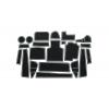 СИЛИКОНОВЫЕ ВСТАВКИ В САЛОН ДЛЯ BMW 5-SERIES (G30) 2017+ (BGT-PRO, PADS-BMW-5-G30-W)