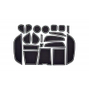 СИЛИКОНОВЫЕ ВСТАВКИ В САЛОН ДЛЯ BMW X6 (F16) 2015+ (BGT-PRO, PADS-BMW-X6-F16-W)