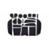 СИЛИКОНОВЫЕ ВСТАВКИ В САЛОН ДЛЯ BMW X6 (F16) 2015+ (BGT-PRO, PADS-BMW-X6-F16-R)