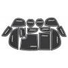 СИЛИКОНОВЫЕ ВСТАВКИ В САЛОН ДЛЯ MAZDA 6 III 2012+ (BGT-PRO, PADS-MZ-6-3-W)
