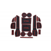 СИЛИКОНОВЫЕ ВСТАВКИ В САЛОН ДЛЯ NISSAN X-TRAIL (T32) 2014-2017 (BGT-PRO, PADS-NIS-X-TR-32-R)