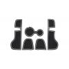 СИЛИКОНОВЫЕ ВСТАВКИ В САЛОН ДЛЯ PORSCHE MACAN 2017+ (BGT-PRO, PADS-PORS-MAC-17-W)