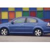 Накладки на дверные ручки (нерж., Deco) для Chevrolet Aveo 2006-2011 (Omsa Prime, 1601045)