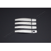 Накладки на дверные ручки (нерж., Deco) для Chevrolet Aveo (T300) SD 2012+ (Omsa Prime, 5202045)