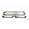 Накладки на пороги (нерж., Exclusive) для Renault Fluence SD 2010+ (Omsa Prime, 97UN091EP)