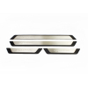 Накладки на пороги (нерж., Exclusive) для Skoda Rapid (5J) SD 2012+ (Omsa Prime, 97UN091EP)