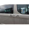 Накладки на дверные ручки (нерж., 9-шт.) для Ford Tourneo Custom 2012+ (Omsa Prime, 2624041)