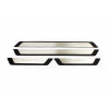 Накладки на пороги (нерж., Sport) для Peugeot 301 SD 2012+ (Omsa Prime, 97UN091SP)