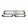 Накладки на пороги (нерж., Sport) для Renault Fluence SD 2010+ (Omsa Prime, 97UN091SP)