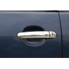 Накладки на дверные ручки (нерж., Deco) для Skoda Fabia HB/SW 2000-2007 (Omsa Prime, 7502046)
