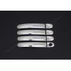 Накладки на дверные ручки (нерж., Deco) для Volkswagen Touran 2003-2010 (Omsa Prime, 7522048)