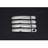 Накладки на дверные ручки (нерж., Deco) для Volkswagen Touran 2010+ (Omsa Prime, 7522048)