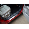 Накладки на пороги (нерж.) для Nissan Qashqai+2 2010-2014 (Omsa Prime, 5021092)