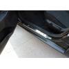 Накладки на пороги (нерж.) для Peugeot Bipper 2008+ (Omsa Prime, 2521092N)