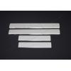 Накладки на пороги (нерж.) для Renault Captur 2013+ (Omsa Prime, 6142091)