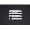 Накладки на дверные ручки (нерж., 4-шт.) для Opel Mokka 2012+ (Omsa Prime, 5202043)