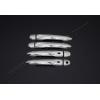 Накладки на дверные ручки (нерж., 4-шт.) для Renault Captur 2013+ (Omsa Prime, 6142041)